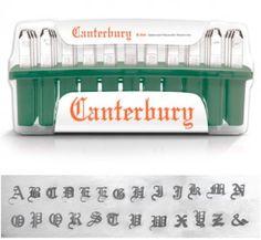 Slagletters Canterbury, luxe, Hoofdletters #ImpressArt