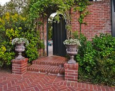 Brick curb appeal Entry Design,