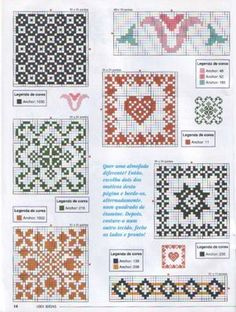 All these charts, plus four more (which are also really nice).  includes floss numbers and well done patterns.