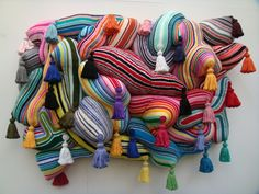 Joana Vasconcelos  what if this was a plan view and the the structure was a series of tunnels? What would be within, what would it look like?