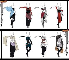 Naruto Adoptable Outfit Set 9 - Closed by Orangenbluete.deviantart.com on @DeviantArt