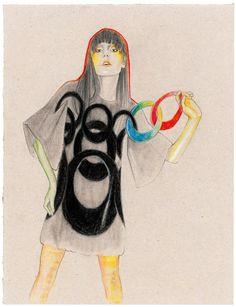 Irina Lazareanu / A Magazine Fall/Winter 2007 'curated by Martine Sitbon' by Cedric Rivrain