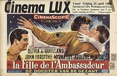 "The Ambassador's Daughter 1958 Authentic 13.75"" x 21.25"" Original Movie Poster Olivia De Havilland Comedy Belgian"