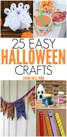 25 Spooky Easy-to-Make Halloween Crafts for Kids - From cute little mummies to…