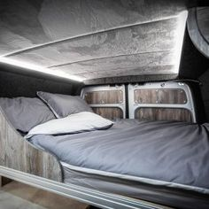 THE NWCC CRAFTER NUGGET CONVERSION - New Wave Custom Conversions Table Storage, Locker Storage, Black Rhino Wheels, Foil Insulation, Transit Camper, Vw Crafter, Furniture Board, Camper Van Conversion Diy, Campervan Interior
