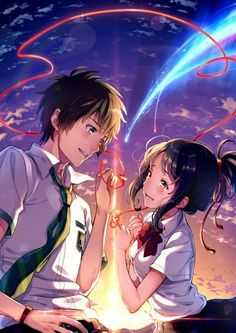 Wie 32 Bilder für mehr Bonitas von Kimi no Na wa (Ihr Name) – Carla Winne – Best Picture For wallpaper anime boku no hero For Your Taste You are looking for something, and it is going to tell you exactly what you are looking for, and you didn't find … Couple Amour Anime, Anime Love Couple, Manga Couple, Cute Anime Couples, Manga Anime, Film Manga, Film Anime, Anime Boys, Cosplay Anime