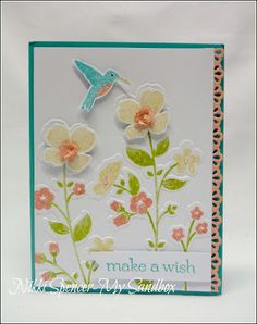 """Just popped in to share a card l made using the lovely """"New"""" stamp & embossing folder bundle from Stampin-Up called """"Wild. Homemade Greeting Cards, Making Greeting Cards, Homemade Cards, Wild Flower Meadow, Wild Flowers, Small Flowers, Scrapbook Cards, Scrapbooking, Cool Cards"""