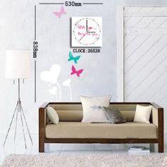 dekorativen Uhr Wandaufkleber