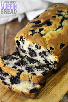 This Blueberry Muffin Bread Recipe is perfect for lazy mornings or mornings when you don't feel like making a huge breakfast. This easy bread recipe is so delicious and tastes just like blueberry muffin!