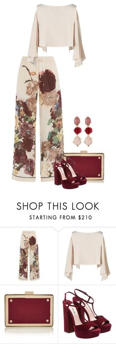 """Untitled #2715"" by carmelaromio ❤ liked on Polyvore featuring Valentino and Oscar de la Renta"