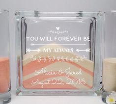 Unity Sand Ceremony Set - You Will Always Be My Forever
