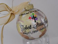 Personalized REMEMBRANCE COMMEMORATION Glass by SnowflakeOrnament