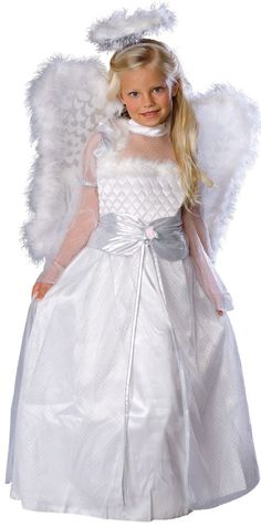 Rosebud Angel Headpiece and dress with attached wings trimmed in marabou.