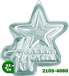 Wilton item number 2105-4060. Visit www.GalesWholesale.com for more information. Hannah Montana Pan - 13 x 13 x 2in d. Where Hannah Montana goes, a party is soon to follow!  She�s an average teenager by day and a pop star by night! You�ll be a star too, when you decorate a rocking Hannah Montana cake for the birthday party. *For home use only.