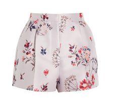 Warwick high-rise floral-jacquard shorts by Stella McCartney
