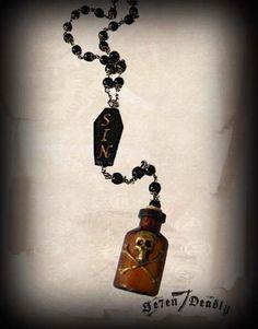 Sin Bottle & Coffin Necklace