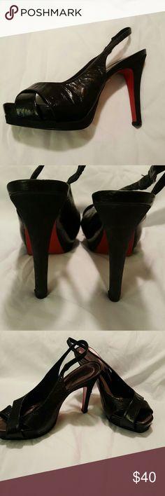 MIUCHA peep toe sling back platform heels Stunning heels, no damage. Made in brazil Shoes Platforms
