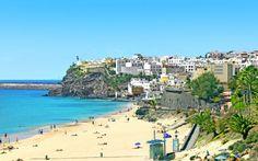 Fuerteventura on Kanariansaarten paras kohde todelliselle auringonpalvojalle! Maisemaa hallitsevat hiekka, meri, vuoret ja etelän aurinko. www.apollomatkat.fi #Fuerteventura #Espanja Beach, Outdoor, Spain, Outdoors, Seaside, The Great Outdoors