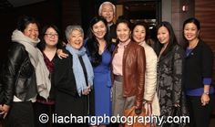 Agnes Hsu-Tang and Oscar Tang are flanked by Asian Women's Giving Circle members Hali Lee, Melinda Chu, Aiyoung Choi, Mannar Wong, Shinhee Han, Ada and Andrea Louie (Exec Director of Asian American Arts Alliance) after the screening of Chineseness at the New York Historical Society in New York on October 2, 2014. Photo by Lia Chang