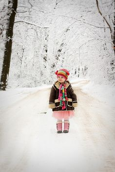 Portraits in the snow... by Emily Szettella, via Flickr