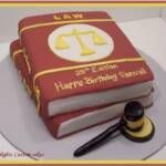 Law School Book Cake: I love this! Can we say eventual graduation party?!@Amy Murphy using Elon colors?