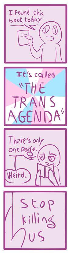 The trans agenda Transgender Tips, Trans Boys, Lgbt Memes, Lgbt Love, Genderqueer, Lgbt Community, Equality, Saga, Random