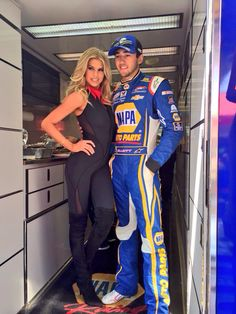 Chase at Fontana before the race