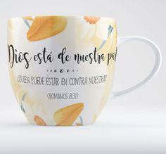 #Dios está de nuestra parte...#Taza de cerámica colección #vintage