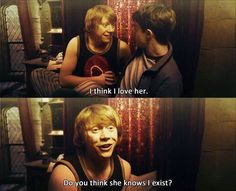 Best love potion mishap ever!! Romilda Vane is the matchmaker that allowed Ron and Hermione to pursue their true feelings!