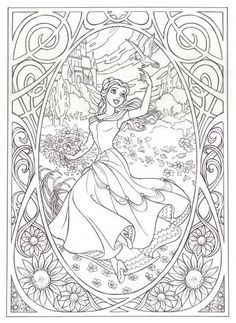 Free Coloring pages printables Make your world more colorful with free printable coloring pages from italks. Our free coloring pages for adults and kids. Coloring Book Pages, Printable Coloring Pages, Coloring Sheets, Belle Coloring Pages, Coloring Pages For Kids, Kids Colouring, Colorful Pictures, Beauty And The Beast, Artsy