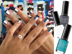 Easy-to-do manicure to show off your engagement ring!