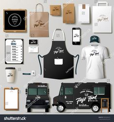 corporate identity template branding vector design truck food mock set up Vector food truck corporate identity template design set Branding mock upVector food truck corporate identity template design set Branding mock up Food Trucks, Kombi Food Truck, Food Truck Menu, Taco Food Truck, Pizza Truck, Design Set, Food Cart Design, Food Truck Design, Food Menu Design