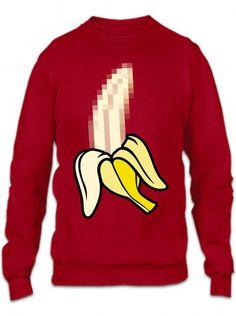X Banana Pixel Art Crewneck Sweatshirt
