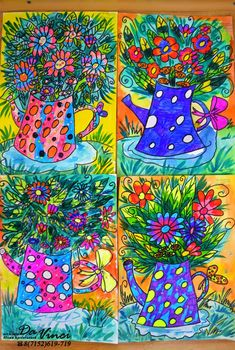 Classroom Art Projects, Art Classroom, Kids Art Class, Art For Kids, Square One Art, Third Grade Art, Spring Art Projects, Art Lessons Elementary, Summer Art