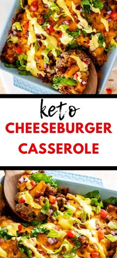 Looking for the best ever Keto Cheeseburger Casserole? This is it! You can count on this one to be loved by kids and adults alike. With cream cheese, ground beef, cheddar, pickles and a tangy sauce, this easy recipe is a crowd pleaser! #keto #grainfree #glutenfree