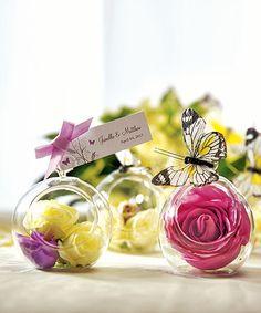 Blown glass globes (pkg 4)-Glass balls wedding, glass ball candle holder, glass ball tealight holder, hanging glass balls