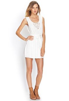 Embroidered Crochet Dress | FOREVER21 - 2000069796