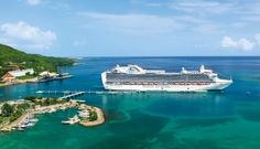 a princess cruise ship dock at a port in the Caribbean
