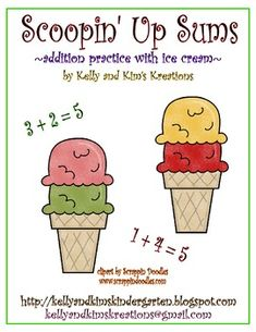 Scoopin' Up Sums will be a great summer-themed way for your students to practice their basic addition facts from 0 to 10! This activity pack includes 66 pages of ice cream scoops and ice cream cones to create math facts, 3 different recording sheets, and ideas for classroom differentiation. Scoopin' Up Sums will be a great way for your children to cool down and work on their math facts!