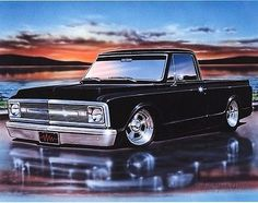 1969 1970 chevy c10 fleetside pickup art #print 11x14 classic #truck #poster, View more on the LINK: http://www.zeppy.io/product/gb/2/221902128929/