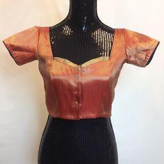 Brocade Partywear Saree Blouse - Light Red