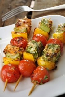 SWEET N' SPICY SALMON KABOBS Muscle and Fitness Hers