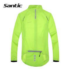 328d253a039 Santic hombres Ciclismo chaqueta UPF30 + bicicleta chaqueta de lluvia  impermeable manga larga deporte al aire