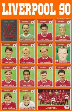 End of an era: The last Liverpool FC squad to win the league title in 1990. #LFC