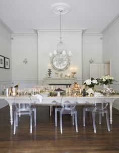 Celebrations with the Victoria Ghost chair from Kartell source: Massey_LivEtc_KatieJan160