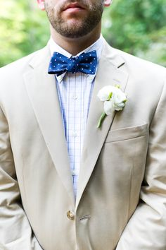 Polka dot bow ties always have me at hello | Dreamy Wedding in Big Canoe, North Georgia by Brita Photography  Read more - http://www.stylemepretty.com/georgia-weddings/2013/09/24/dreamy-wedding-in-big-canoe-north-georgia-by-brita-photography/
