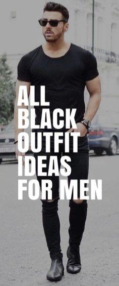 ALL BLACK OUTFIT IDEAS FOR MEN #mensfashion #fallfashion #streetstyle