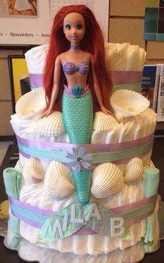 Mermaid Diaper Cake.