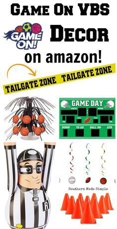 Game On VBS Decor Ideas on Amazon - a complete collection of all things sports party decor related to help you kick off VBS 2018 on a winning note!