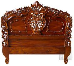 rocco furniture | Rococo Headboard - Mahogany